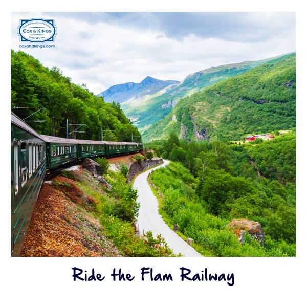Hop on to the Flam Railway, with its vintage interiors, and enjoy the old-world charm of train travel. Don't miss out on this thrilling ride up steep mountains, past stunning valleys and lush farmland. http://www.cnk.com/NorwayGAdv #ExploreFourCorners — with Jigar Kansagara.