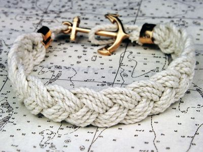 anchor & rope. want.Nautical Style, Anchors Bracelets, Ropes Bracelets, Knots Bracelets, Braids Bracelets, Nautical Bracelets, Anchor Bracelets, Sailors, Accessories