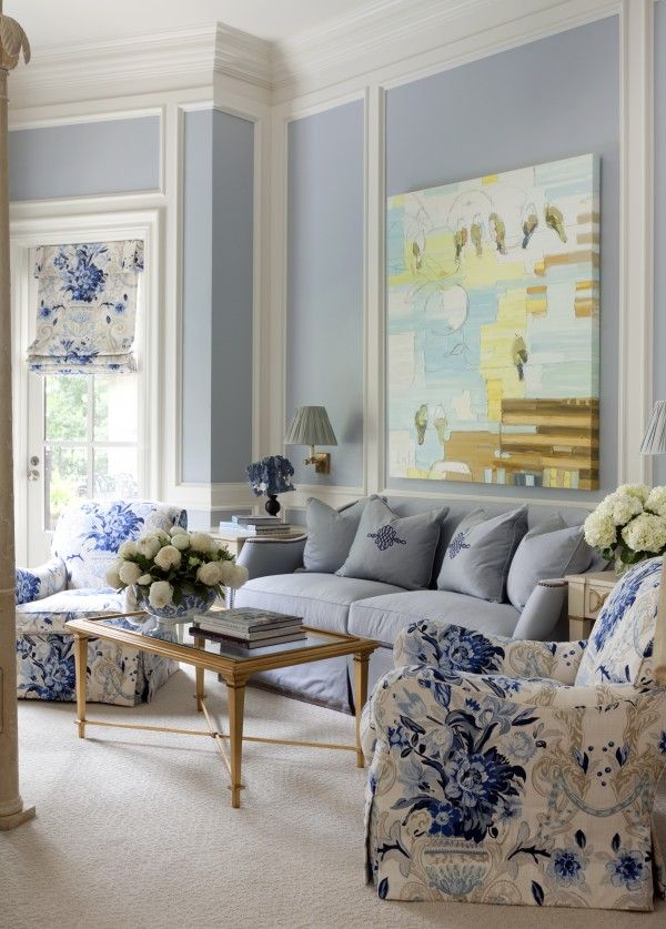 Uniqueshomedesign Tobi Fairley Charisma Design Love The Chair Fabric And Light Denim Blue Sofa