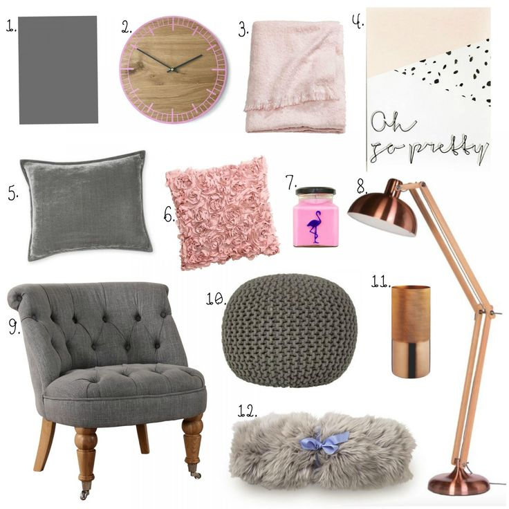 Living Room Interiors | Grey, Blush Pink & Copper | Copper ...