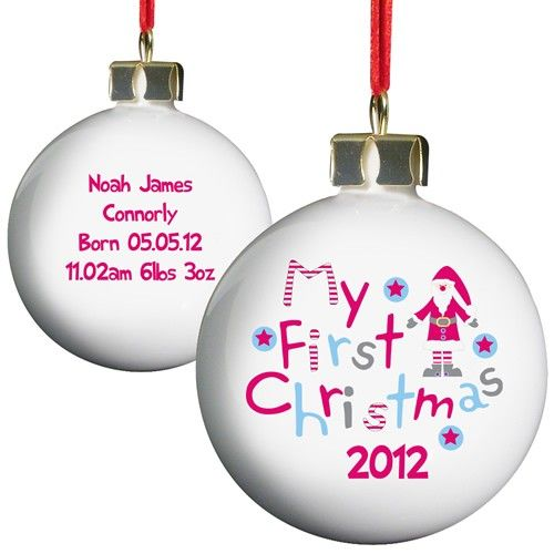 Personalised Christmas Bauble - My 1st Christmas  from Personalised Gifts Shop - ONLY £10.99