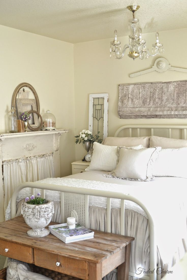 Faded Charm   Sweet Scents in the Bedroom 25  best Vintage white bedroom ideas on Pinterest   Vintage style  . Living Room Bedroom. Home Design Ideas