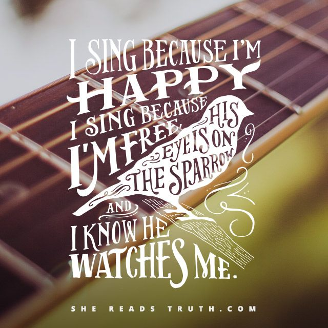 His Eye Is On The Sparrow - Probably one of my top 5 favorite hymns! Love it!