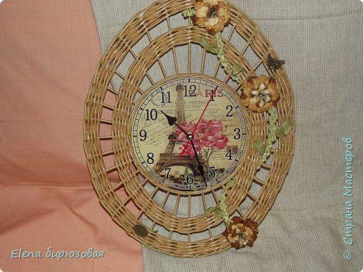 Декор предметов Интерьер Плетение Тик-так часики Бумага газетная Трубочки бумажные фото 21