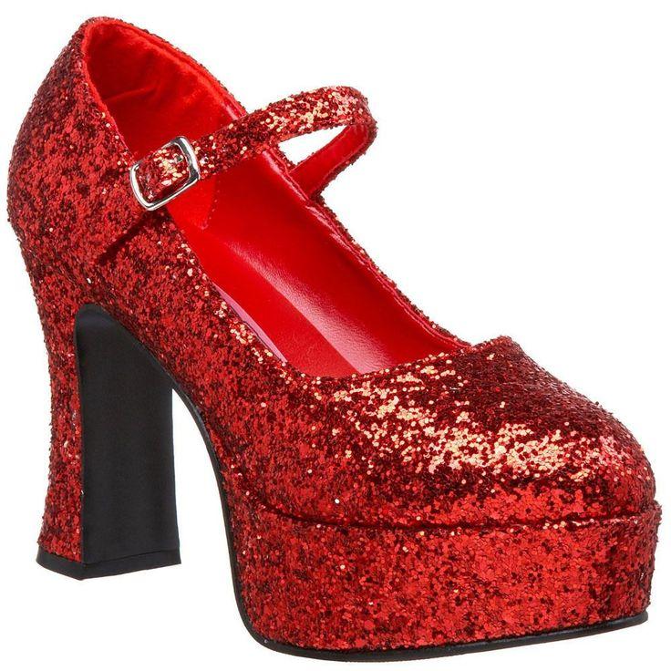"Funtasma Women'S Platform Shoe 4"" Chunky Heel Glitter Mary Janes Maryjane-50G"