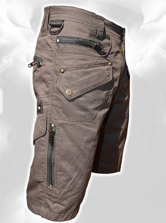 Men Short Pants Hipster Tribal Steampunk Adventure Wear