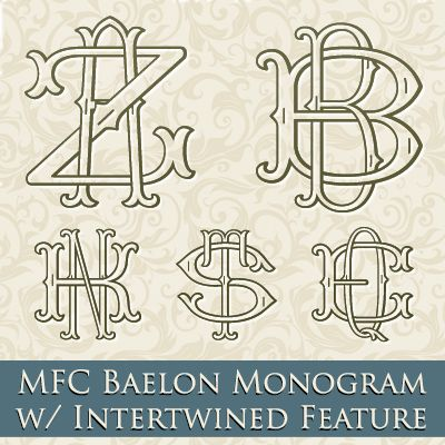 mfc baelon monogram font one two or three letter monograms plus a unique