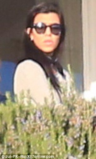 Still friends: Kourtney Kardashian made a mercy dash to Scott Disick's posh Malibu rehab centre on Sunday