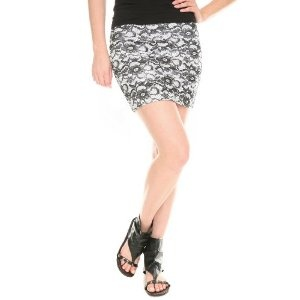 White And Black Lace Print Skirt (Apparel)  http://documentaries.me.uk/other.php?p=B003OH1RP8  B003OH1RP8