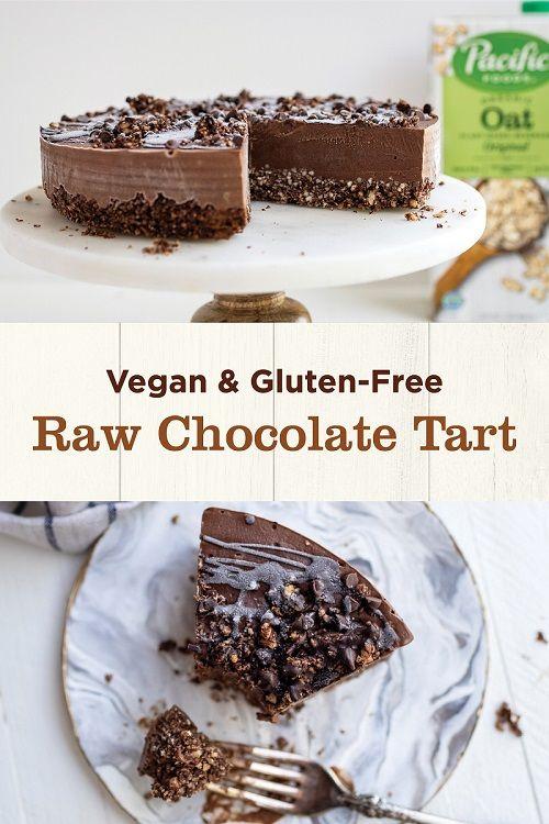 Raw Vegan Chocolate Tart Recipe Raw Chocolate Chocolate Tarts Recipe Chocolate Tart