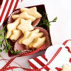 Cute DIY box for holiday cookies