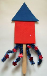 Rocket Bookmark Craft or this could be a neckerchief slide