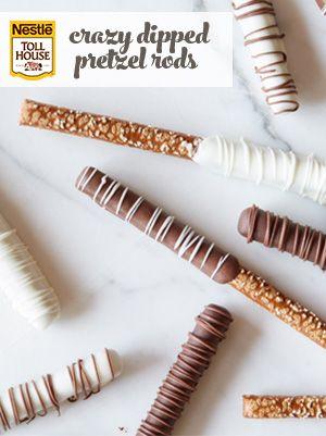 Crazy Dipped Pretzel Rods