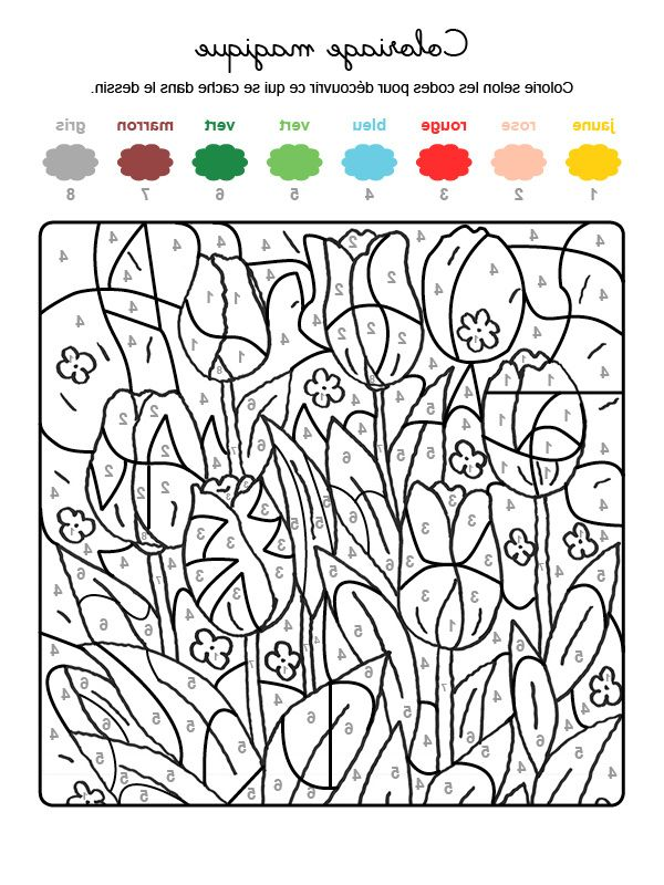 9 Aimable Coloriage Magique Chat Gallery Coloriage Magique Coloriage Printemps Coloriage