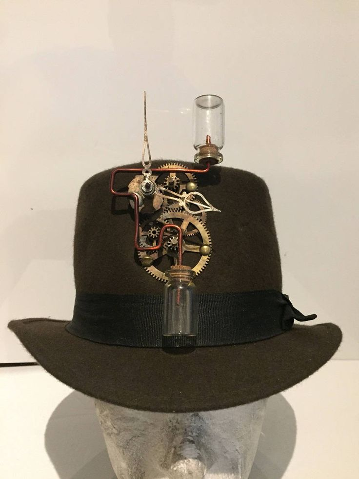 Steampunk Deluxe Brown Top Hat, With Clock Work Design, Fancy Dress Costume by Steampunkbyben on Etsy https://www.etsy.com/uk/listing/560154575/steampunk-deluxe-brown-top-hat-with