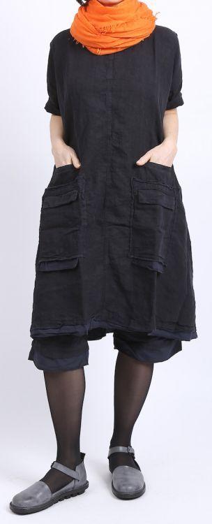 rundholz dip - Bermuda Hose Leinen mit Tasche dark navy - Sommer 2016 - stilecht - mode für frauen mit format...