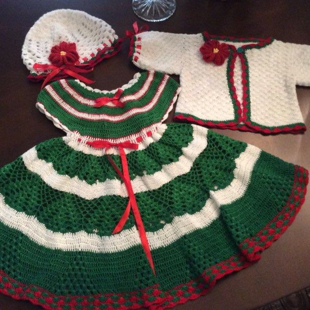 Newest baby Christmas outfit | crochet baby drass | Pinterest | Crochet  girls, Crochet baby and Baby Dress - Newest Baby Christmas Outfit Crochet Baby Drass Pinterest