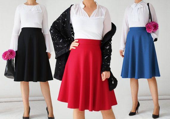 falda MIDI con boden, skater, bolsillos, cintura alta, negro, rojo, círculo, años 50, 70, acampanada, swing, teal, azul, retro, oficina, coral, beige, crema
