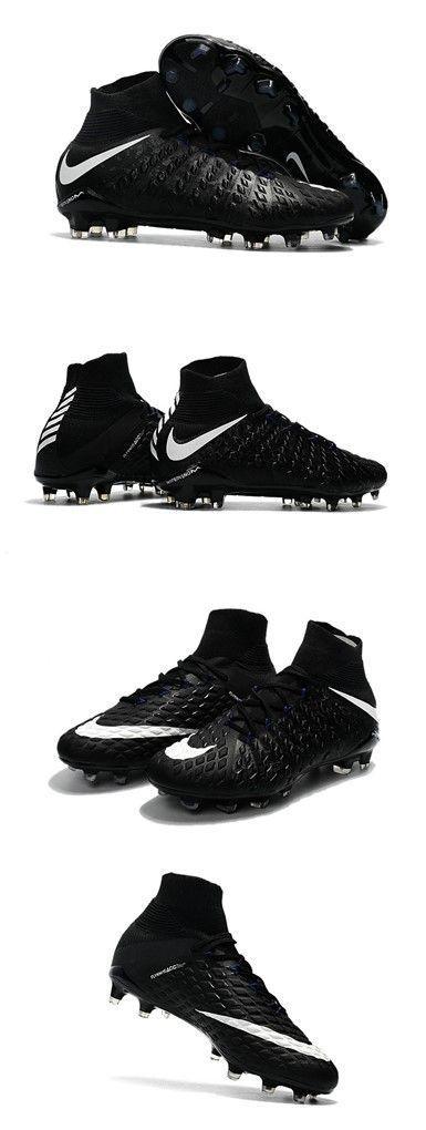 Nike Hypervenom Phantom III DF FG ACC 2017 Cleats - Black White #futbolbotines