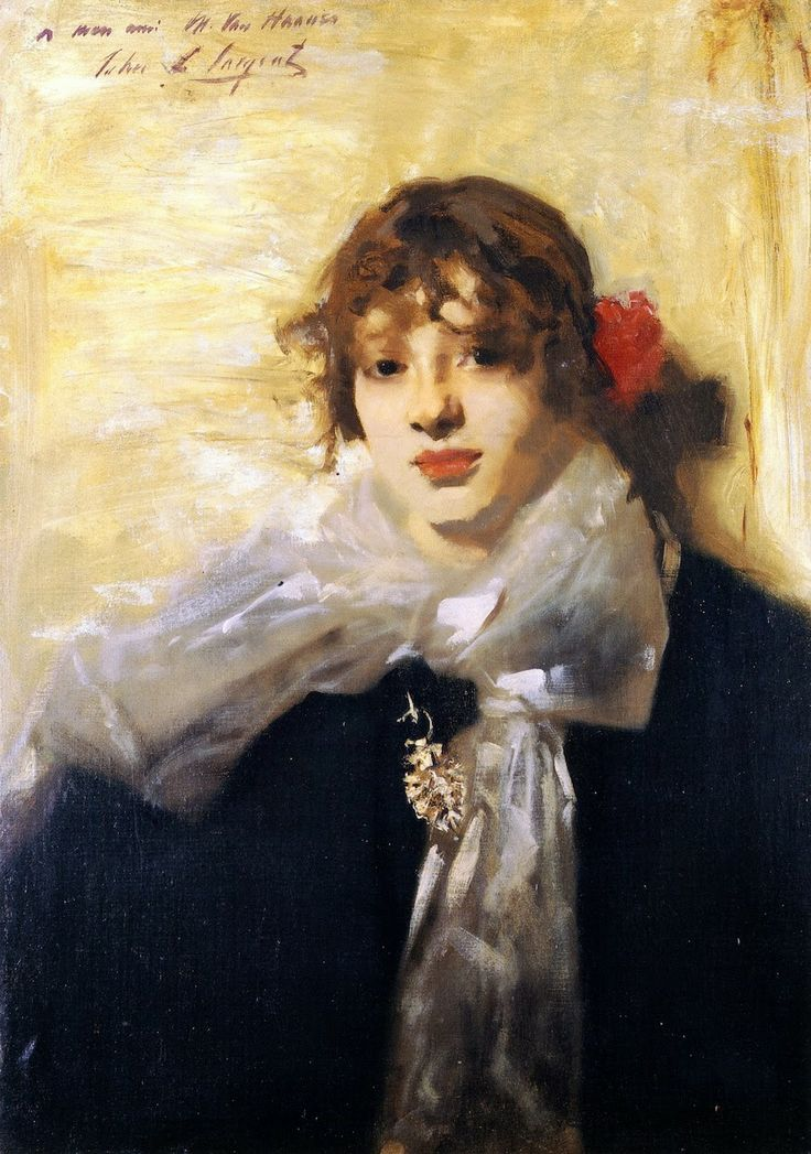 John Singer Sargent - 1880-82c Head of a Young Woman oil on cardboard 62.5 x 46 cm Private Collection