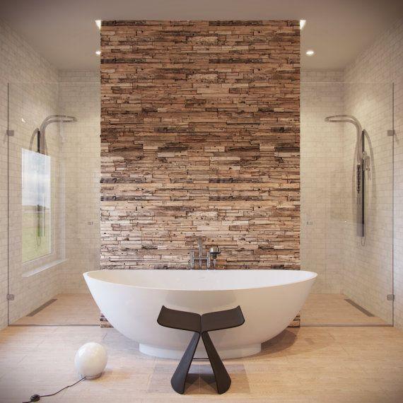 Take A Reclaimed Bath Reclaimed Wood Wall Rustic Wall