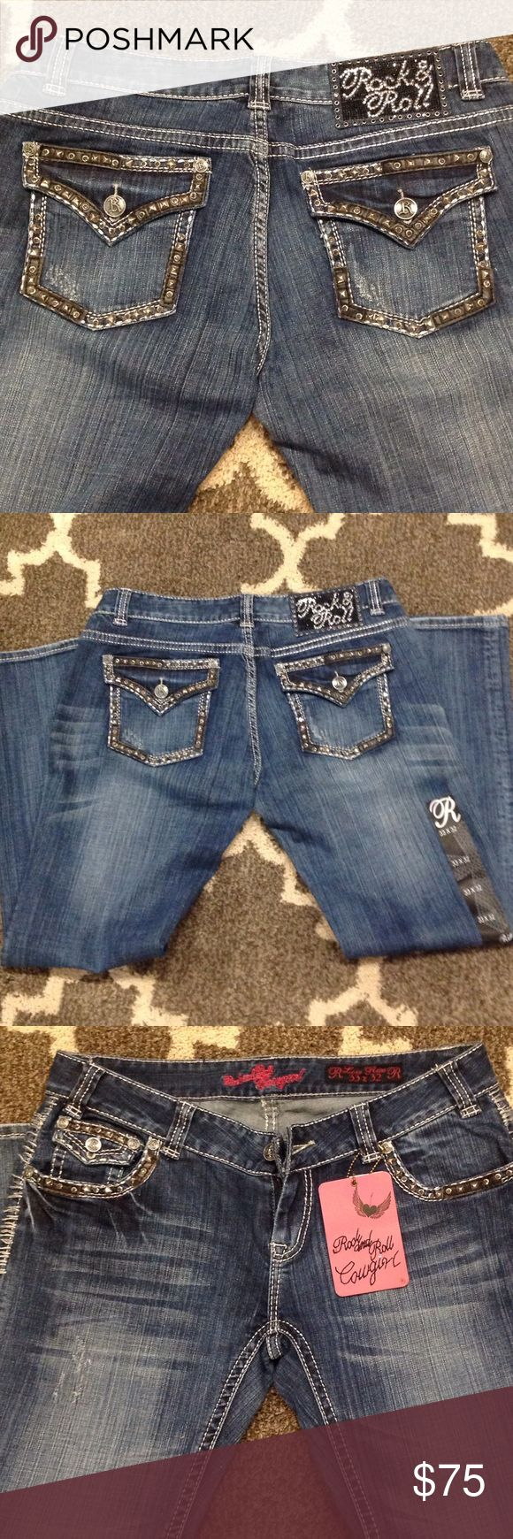Rock and Roll Cowgirl Jeans OMG!! These are the badest Jeans ever! Never worn ever! These are a steal! I paid $98 on sale - originally $149!! Rock & Roll Cowgirl Jeans Boot Cut
