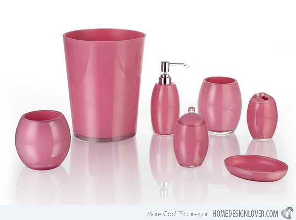 1000+ Ideas About Pink Bathroom Accessories On Pinterest