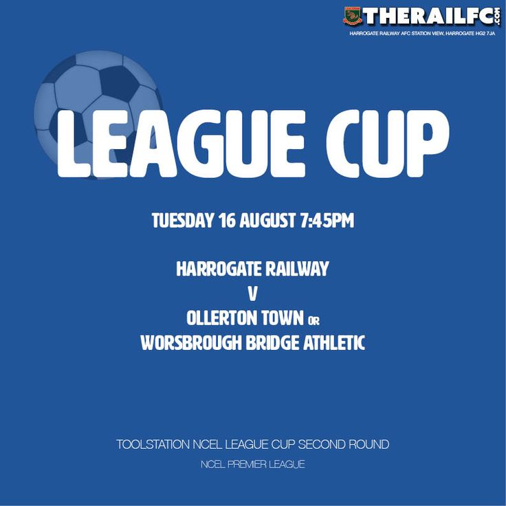 League cup fixtures announced    @therailfc @edwhite2507