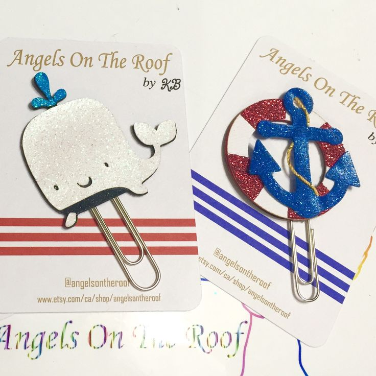 Nautical theme paper clips, just added to the store.