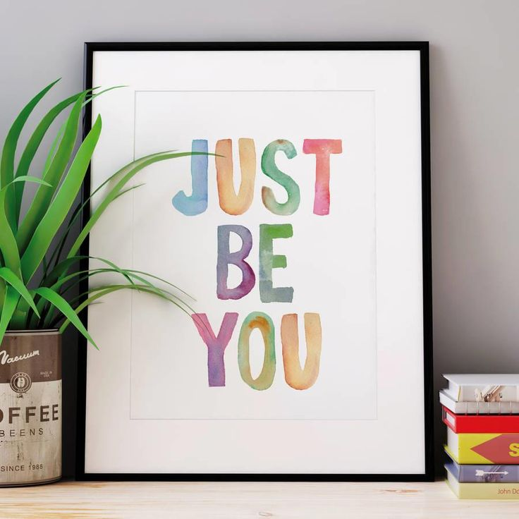 Just Be You http://www.amazon.com/dp/B01BVV51AU motivationmonday print inspirational black white poster motivational quote inspiring gratitude word art bedroom beauty happiness success motivate inspire