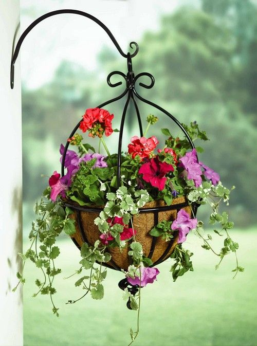 Из чего можно сделать подвесные кашпо для украшения сада