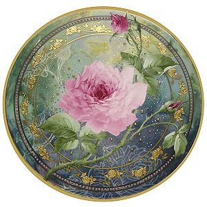 Pink Rose with Embellishments Study - Porcelain Paintng Lessons