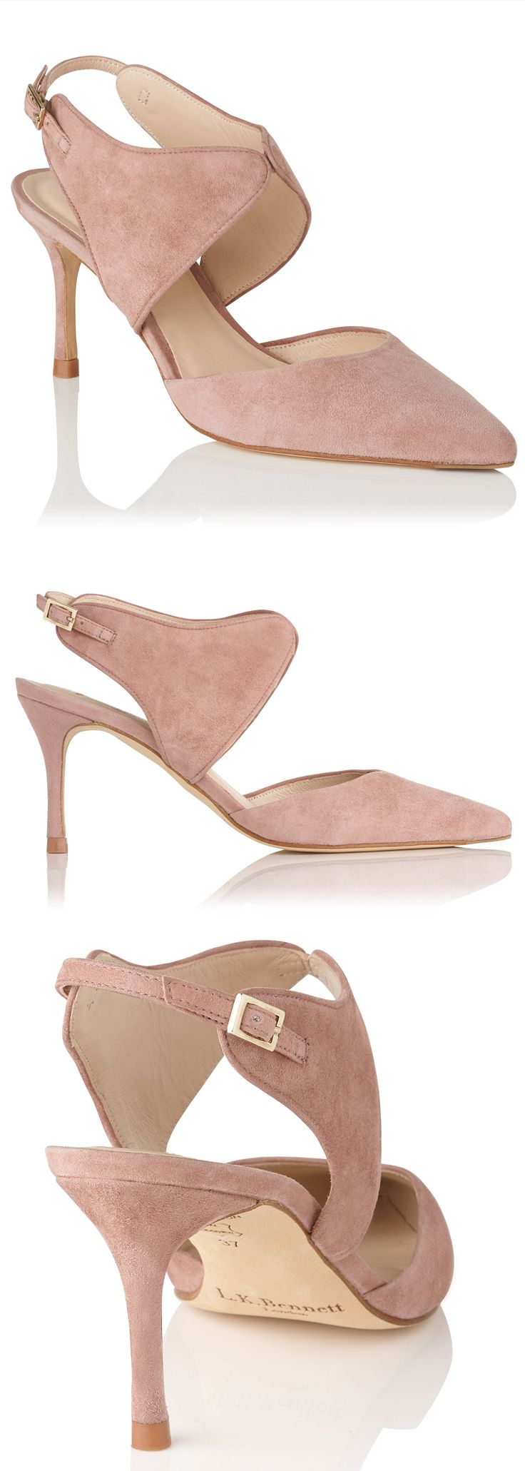 L.K. Bennett Cecily courts are a fashion-forward alternative to pumps. New AW17 Nude Shoes. Comfy Mother of the Bride Shoes. Crafted in Spain from soft suede, with a winged ankle strap. Court Shoes, Stiletto heel, Pointed toe, Suede Leather, High Heel. #fashion #nudeshoes #heels #aw17 #winter #winterfashion #motherofthebride #affiliatelink #weddings