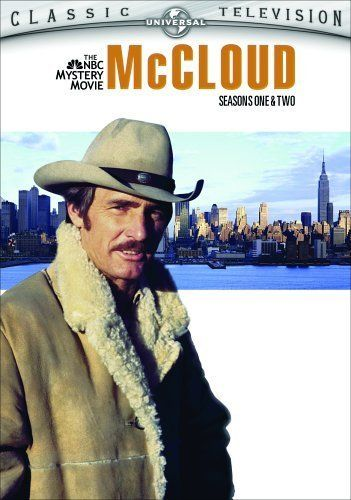 McCloud, starring Dennis Weaver.  Not a green hero because he was only in black and white in our house.