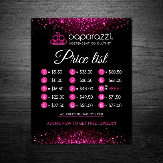picture regarding Printable Paparazzi Signs titled Electronic Rate Paparazzi Price tag Checklist 8X10 - Renault Party