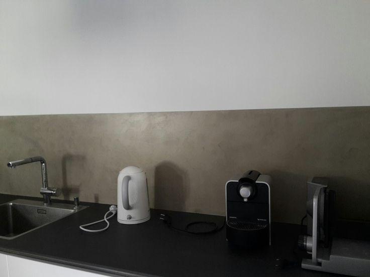 Küchenwand in Beton Cire