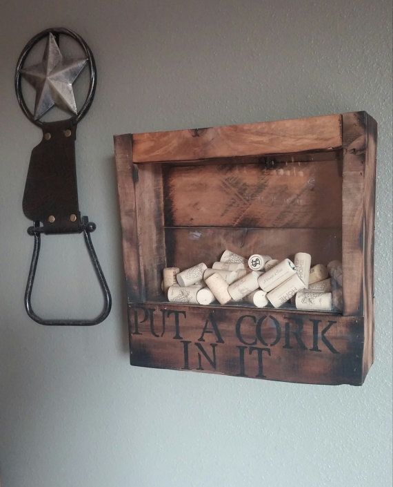 Custom Pallet Wine Cork Holder by CustomPalletWineRack on Etsy, $45.00