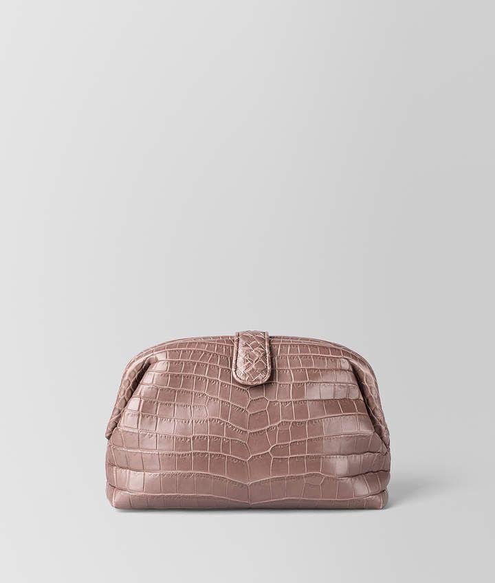 765005720 Bottega Veneta THE LAUREN 1980 IN CROCODILE - DECO ROSE FUME' Soft Pink  Rose Designer Handbag from Bottega Veneta #purse #bag #ad #designer #luxury