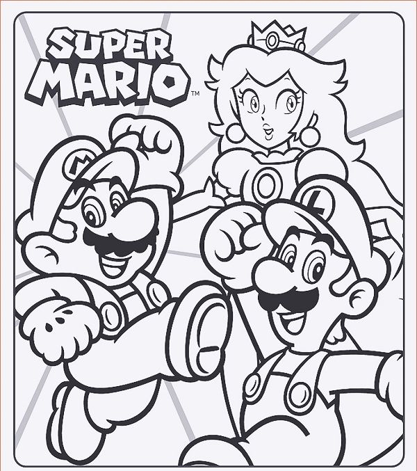 Super Mario Ausmalbilder Und Mario Games Super Mario Coloring Pages Mario Coloring Pages Avengers Coloring Pages