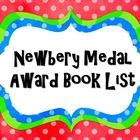This is a list of all Newbery Medal Award winning books since 1922. This is a great supplement to any classroom library.  Other products you may be...