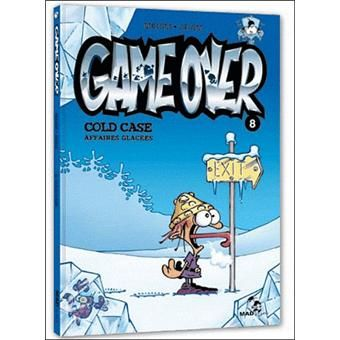 BD : Game over , Tome 8, Cold case, affaires glacées, Midam.