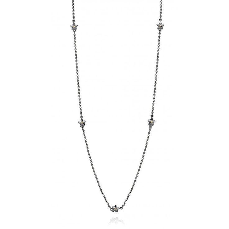 CHAIN S/S & 14Y OXIDISED WITH STARS 70CM - Jons Family Jewellers