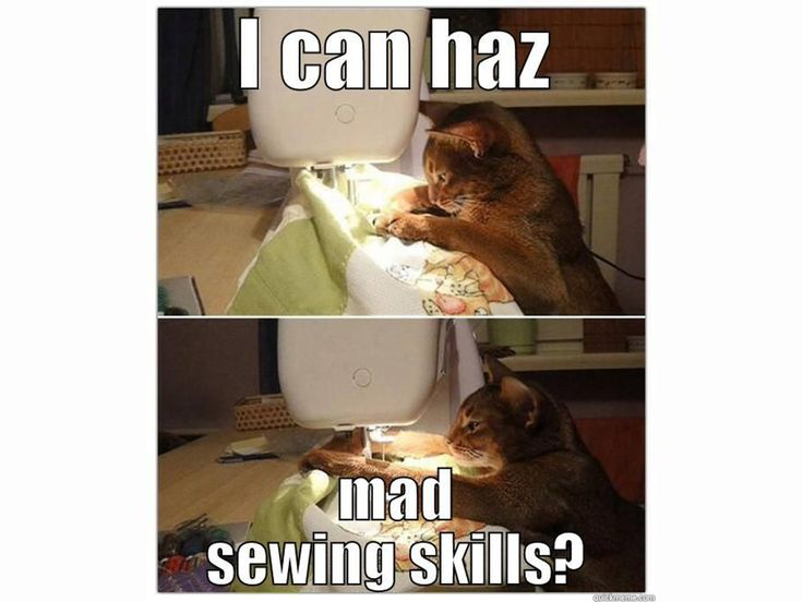 I can haz mad sewing skills? #FridayFunny #Kommaweer