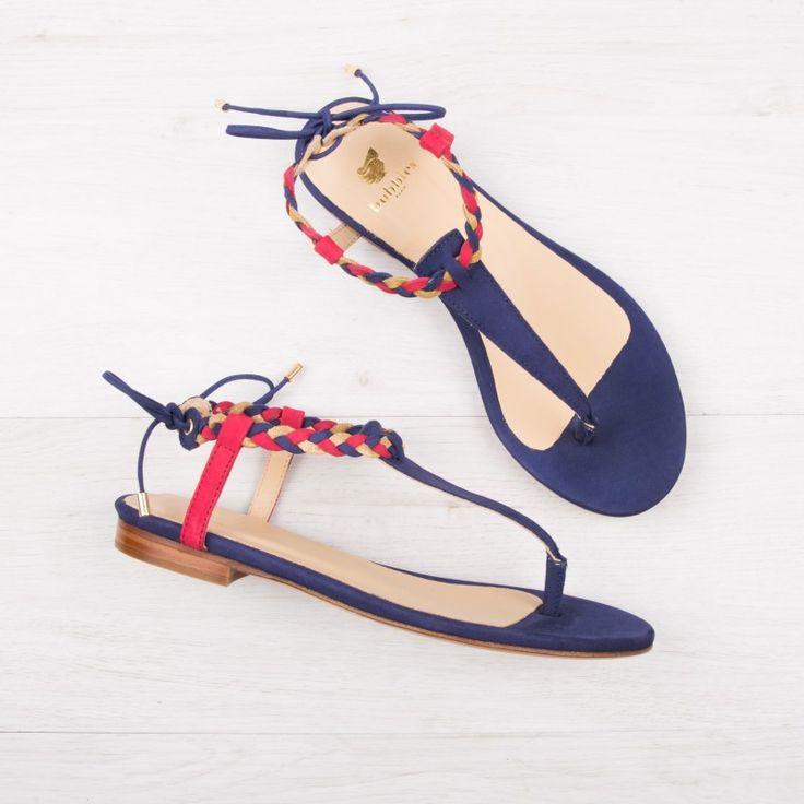Sandalias color azul cobalto Bobbies La Choupenette