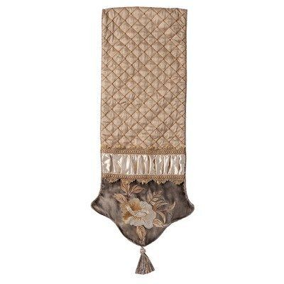 Legacy Table Runner with Cord,Tassels and Braid by Jennifer Taylor. $209.00. 2749-686570674 Features: -Cover material: 45pct Polyester and 55pct Cotton.-Cord, tassels and braid.-Traditional style.-Classic style and luxurious comfort.