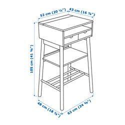 IKEA - KNOTTEN, Biurko stojące, , Biurko do pracy na stojąco to nowoczesna wersja tradycyjnego sekretarzyka, doskonałe jako domowe centrum informacyjne - jest tam miejsce na kalendarze, pocztę, klucze i wiele innych rzeczy.Wiele miejsc do przechowywania w różnych rozmiarach, przeznaczonych na takie przedmioty jak laptopy lub torby.Na haczykach można zawiesić klucze i inne drobne przedmioty.Poręczny pojemnik na kable pozwali przechowywać przedłużacze i gniazdka w ukryciu, a mimo to w zasięgu…