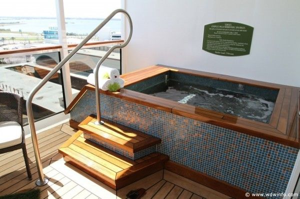 I love this couple spa suite on the Disney Fantasy Cruise ship.