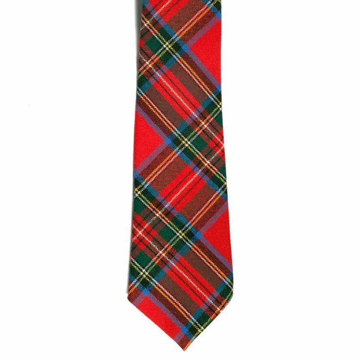Royal Stewart Tartan Tie 100% Wool Plaid Tie