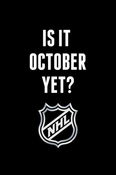 Hockey! Hockey! Hockey!...i'll even take Sept at this point! I was reduced to watching highlight videos the other day. It's getting bad!