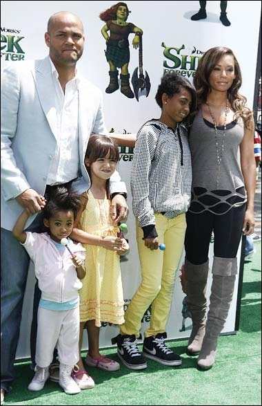 Stephen Belafonte, Mel B and family